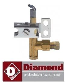 9016.72.080.00 - Waakvlambrander met sproeier gasfornuis DIAMOND G11/6BA12