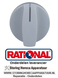 151110144 - Knop nulstreep ø 40mm as ø 6mm 3-delig RATIONAL