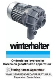 4633102411 - Waspomp ingang ø 63mm uitgang ø 53mm type 1241.2780 230/400V 50Hz fasen 3 1,1kW 1,5PS L 335mm  WINTERHALTER