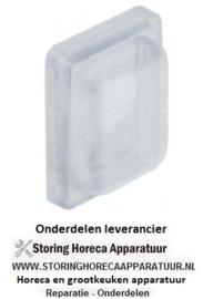 075301064 -  Beschermkap voor drukschakelaar buitenmaat 23,4x17,4mm binnenmaat 19x13mm H 7,5mm