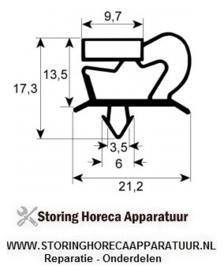 048900986 - Koeldeurrubber profiel 9048 B 450mm L 578mm steekmaat passend voor ELECTROLUX, ZANUSSI