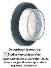 101345039 - Beschermkap  rond AD ø 33mm buitenmaat 23mm binnenmaat 21mm H 12mm transparant inbouw ø 25mm