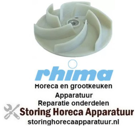 236510357 - Pompschoep ø 124mm H 34/16mm draad M8R messen 6 voor waspomp vaatwasser RHIMA