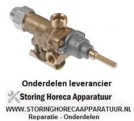 393101544 - Gaskraan type 21S gasingang pijpflens ø21mm bypass sproeier ø 0,35mm