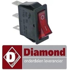 176301010 - Wipschakelaar rood met signaallamp voor pizza oven DIAMOND