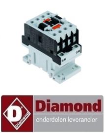 045ME0000354 - Relais AC1 25A 230VAC (AC3/400V) 9A/4kW hoofdcontact 3NO hulpcontact 1NO DIAMOND LD4/30X