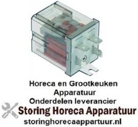 181380185 - Vermogensrelais  230VAC 30A 1NO aansluiting F6,3 overslagbevestiging