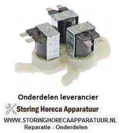"352372025 - Magneetventiel drievoudig recht 230VAC ingang 3/4"" uitgang 11,5mm"