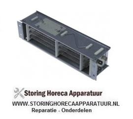 053418629 - DWARSSTROOMVENTILATOREN verwarmingblok  2x 150W 230V temp. begrenzing 95°C