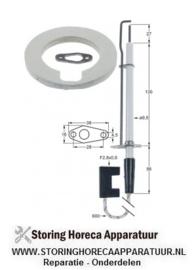703102884 - Bougie flens L 38mm flens B 16mm D1 ø 9,5mm L1 27mm LL1 130mm LL2 56mm aansluiting F 2,8x0,8mm