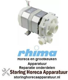 278500525 - Waspomp ingang ø 50mm uitgang ø 30mm type T7 230V 50Hz fasen 1 0,52kW vaatwasser RHIMA