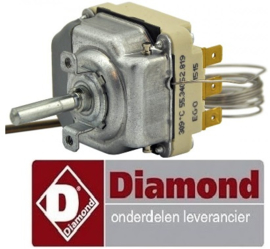 VE192.661.027.00 - Thermostaat t.max. 300°C voor fornuis DIAMOND DIAMOND E60/5PFV9(230/3)