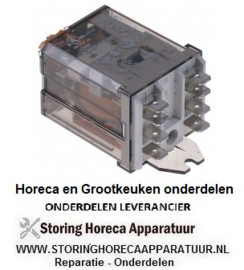 178380138 - Vermogensrelais FINDER 24VAC 16A 2CO aansluiting vlaksteker 6,3mm overslagbevestiging
