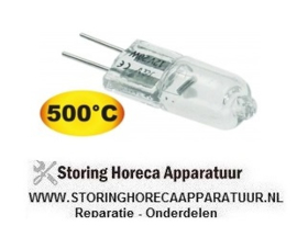 152359599 - Halogeenlamp fitting G4 12V 20W temp. bestendigheid 500°C