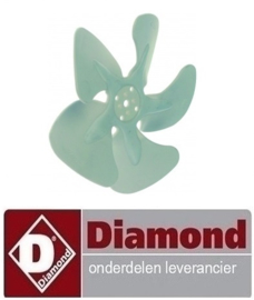 05810213 - Ventilatorblad zuigend ø 154mm DIAMOND ICE20A