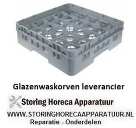 208972129 - Glazenkorf L 500mm B 500mm aantal glazen 25 H 142mm werklengte 124mm compartiment G 89x89mm