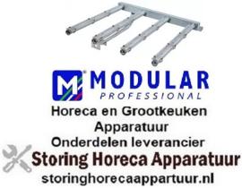 171105166 - Staafbrander 4-rijen L 545mm B 580mm H 135mm kantel braadpan  MODULAR