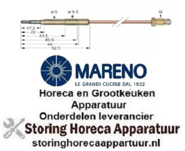 3411.076.11 - Thermokoppel M9x1 L 850mm steekhuls ø6,0(6,5)mm MARENO