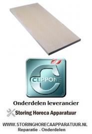 473850101  - Warmtegevende steen L 600mm B 300mm H 20mm geribbeld pizza oven CUPPONE