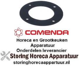 105510972 - Pakking met 4 schroefgaten D1 ø 58mm D2 ø 100mm materiaaldikte 2mm wasarmhouder COMENDA
