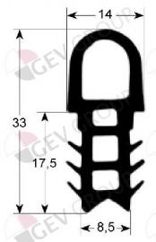 900061 - Deurrubber siliconen 625 x 485 mm