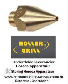 781100987 - Gasinspuiter draad M 8x1 SB 12 boring ø 1,3 mm Roller-Grill