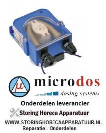 4323.610.98 - Doseerapparaat MICRODOS zonder sturing 1,5l/h 230 VAC wasmiddel slang ø 4x6mm slang Santoprene