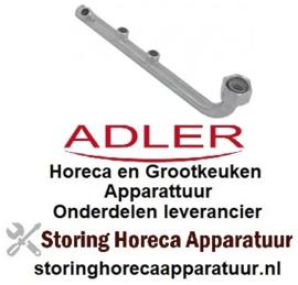 """395524005 - Wasarm L 260mm H 53mm sproeiers 3 inbouwpositie boven draad 3/4"""" inbouw ø 20mm ADLER"""
