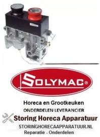 """321106210 - Gasthermostaat t.max. 450°C gasingang 1/2"""" gasuitgang 1/2"""" voeler ø 6,5mm voeler L 250mm SOLYMAC"""