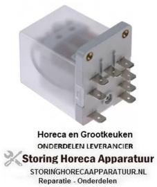 EU293380130 - Vermogensrelais 230VAC 16A 3NO aansluiting vlaksteker 6,3mm schroefbevestiging