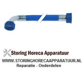 """577520460 - Toevoerslang PVC recht-haaks DN12 aansluitingen 3/4"""" L 1500mm werkdruk 10bar"""