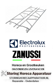 497210131 - Gasfornuis brander rooster B 345mm L 800mm Electrolux, Zanussi
