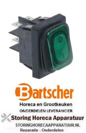 504347791 - Wipschakelaar inbouw groen 250V 20A  BARTSCHER