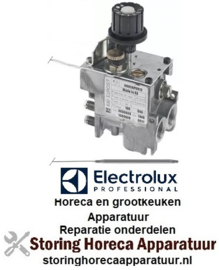 """155101125 - Gasthermostaat type serie 630 Eurosit t.max. 340°C 100- 340°C gasingang 3/8"""" gasuitgang 3/8"""" thermoelementaansluiting M9x1 waakvlamaansluiting M10x1 voeler ø 4mm voeler L 72mm capillaire 1050mm ELECTROLUX"""