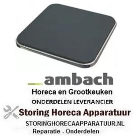 264490067 - Kookplaat maat 220x220mm 2000W 400V AMBACH