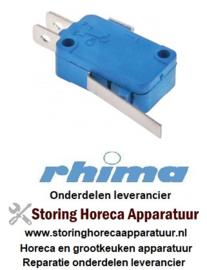 25750900015 - Microschakelaar met hendel bediend door hendel 250V RHIMA DR51, DR51S