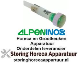 238359378 - Signaallamp ø 10mm 230V groen ALPENINOX