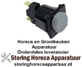 876345226 - Drukschakelaar tastend inbouwmaat 28,5x28,5mm grijs 1NO 250V 16A