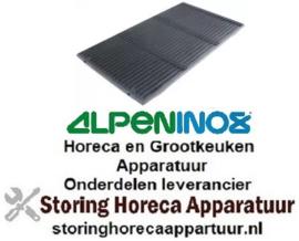 186211034 - Oplegrooster L 340 mm x B 545 mm voor grill ALPENINOX