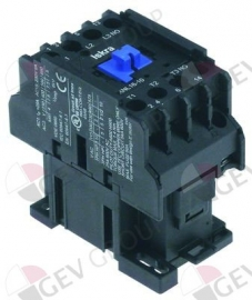380224 -  Relais AC1 25A 230VAC (AC3/400V) 17A/7,5kW hoofdcontact 3NO hulpcontact 1NO