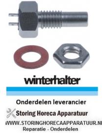 906402202 - Temperatuurvoeler PTC 2kOhm voeler -50 tot +150°C aansluiting vlaksteker 2,8mm draad M10 - Winterhalter