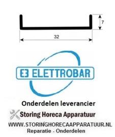 713518299 - Deurrubber L 570mm vaatwasser ELETTROBAR E50-E51