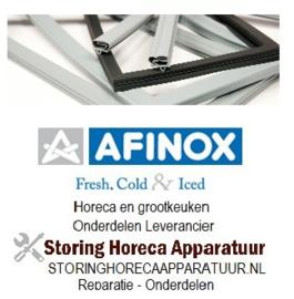 057901200 - Koeldeurrubber B 707mm -  L 1163mm steekmaat passend voor AFINOX voor snelvriezer