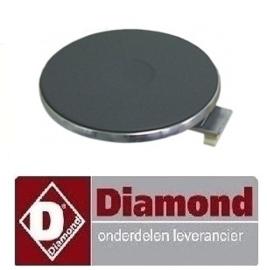 112RTCU700087 - Kookplaat ø 145mm 1500W DIAMOND E77/2P4T-N
