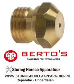 29640113000 - Gasinspuiter Propaan - LPG lavasteengrill BERTOS G6PL80B