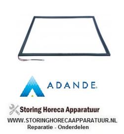 063901143 -  Koeldeurrubber verwarmd B 600mm L 755mm steekmaat ADANDE