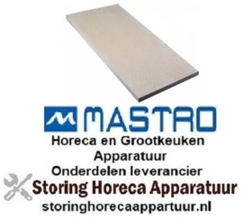 258850101 - Warmtegevende steen L 600mm B 300mm H 20mm geribbeld pizza oven MASTRO
