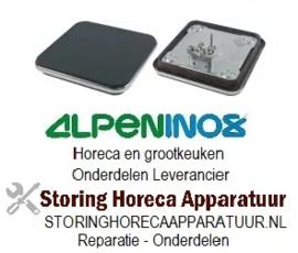VE194490065 - Kookplaat 2.000W / 230V 220x220mm met rvs rand ALPENINOX