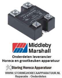 116403579 - Aansluitblok solidstate relais CRYDOM fasen 1 75A 48-480V 90-280VAC  Middleby-Marshall