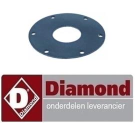 ST775168 - Pakking voor flens AD ø 123mm ID ø 46mm rubber DIAMOND